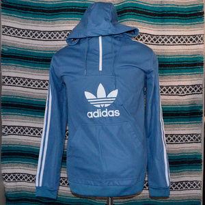 Adidas Hoodie Sweatshirt Baby Blue large